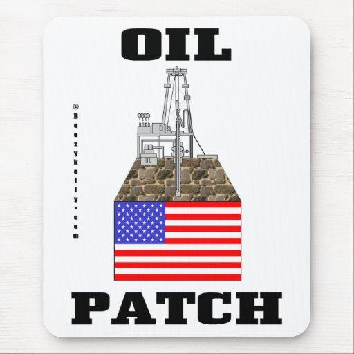 US Oil Patch,America,Petroleum,Derrick,Flag Mouse Pad