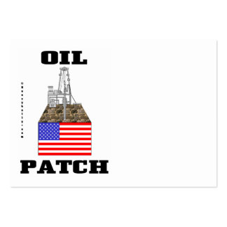 US Oil Patch,Business Cards,Oil,Rig,Oilman Large Business Cards (Pack Of 100)