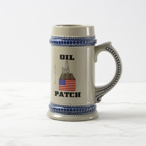 US Oil Patch,Stein,Beer Mug,Tankard,Gift,Oil,Gas, Beer Stein