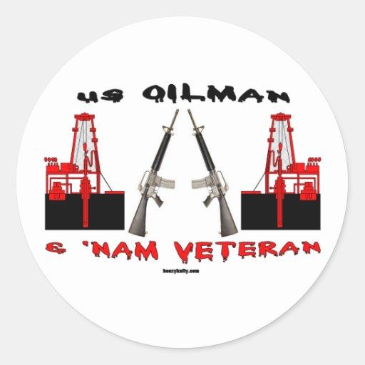 US Oilman and Vietnam Veteran, Oil Field Sticker