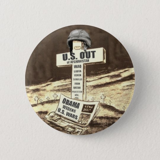 US OUT of WAR Pinback Button