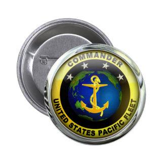 US Pacific Fleet Commander Pinback Button