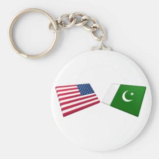 US & Pakistan Flags Keychain