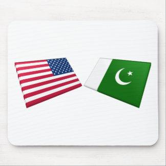 US & Pakistan Flags Mouse Mats