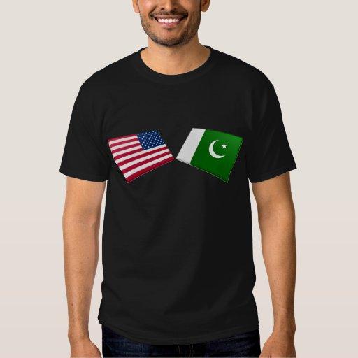 US & Pakistan Flags Shirts