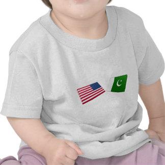 US & Pakistan Flags Tshirts
