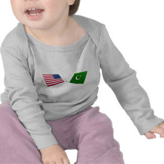 US & Pakistan Flags T-shirt