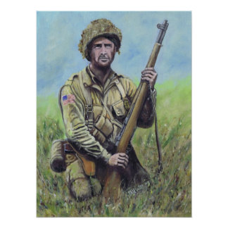 US Paratrooper 82nd Airborne Poster
