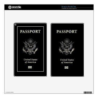 US Passport Cover Kindle Fire Skins