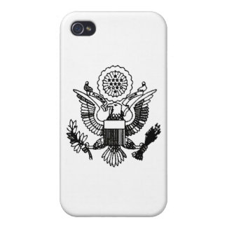 US Passport Eagle, Black Cases For iPhone 4