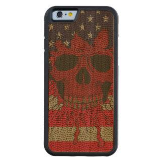 US Patriotic Headbone Basketball Ball Skin Carved® Cherry iPhone 6 Bumper