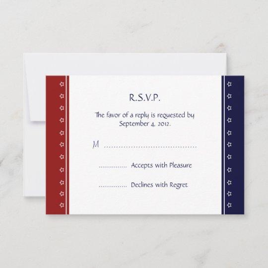 us patriotic military invitation rsvp reply card  zazzle