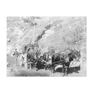 US Paymaster and Guards on Deadwood Road Canvas Print