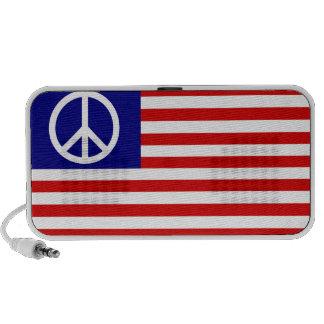 US Peace Flag iPhone Speaker