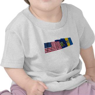 US, Pennsylvania and Philadelphia Flags Tshirts