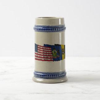 US Pennsylvania and Pittsburgh Flags Mug