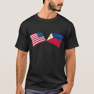 US & Philippines Flags T-Shirt