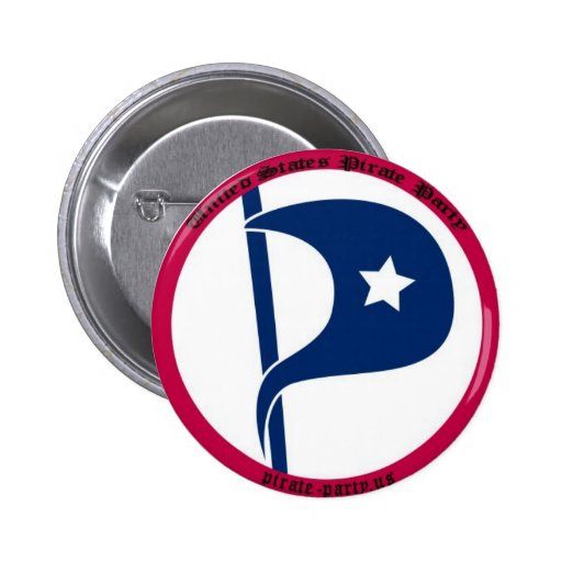 US Pirate Party Pinback Button