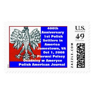 US & Polish colors 400th Anniversary 1st       ... Postage Stamp