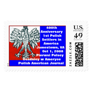 US & Polish colors 400th Anniversary 1st       ... Postage Stamp