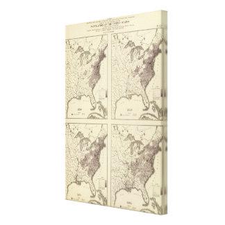 US Population 1790-1820 Canvas Print