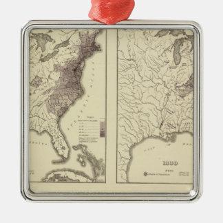 US Population 1790-1820 Christmas Ornaments