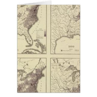 US Population 1790-1820 Greeting Card