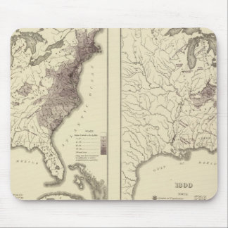 US Population 1790-1820 Mouse Pads