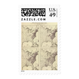 US Population 1790-1820 Stamps