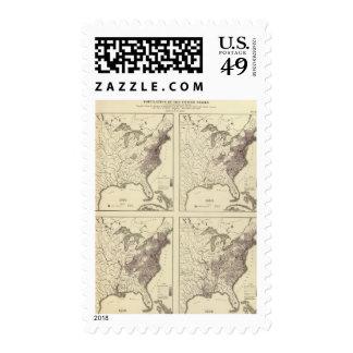 US Population 1790-1820 Postage Stamp