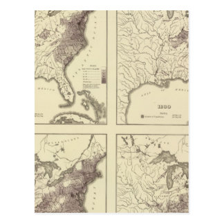 US Population 1790-1820 Postcard