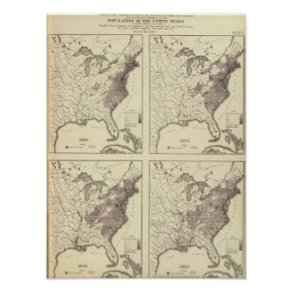 US Population 1790-1820 Posters