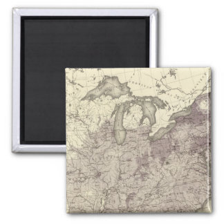 US Population 1850 2 Inch Square Magnet