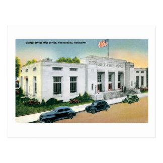 US Post Office, Hattiesburg, Mississippi Postcard