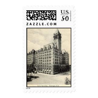 US Post Office Washington DC 1907 vintage Postage