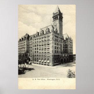US Post Office Washington DC 1907 vintage Poster