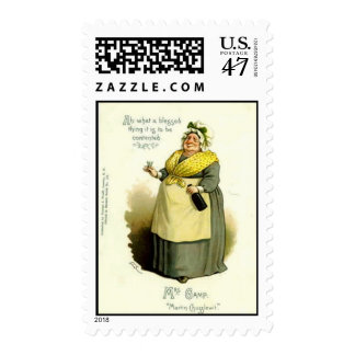 """US Postage Stamp - Mrs Gamp, from """"Martin Chuzzlew"""