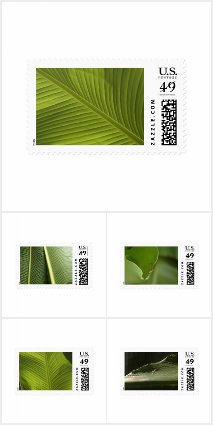 US Postage Stamps Featuring Banana Leaf Photos