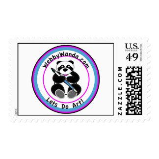 US Postage Stamps Panda webbywanda.com logo