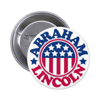 US President Abraham Lincoln 2 Inch Round Button