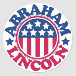 US President Abraham Lincoln Classic Round Sticker