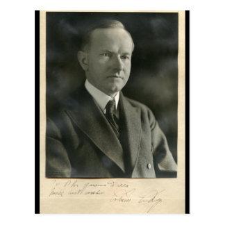 US President Calvin Coolidge (Amherst 1895) Postcard