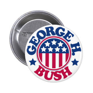 US President George H Bush 2 Inch Round Button