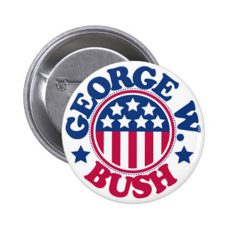 US President George W Bush 2 Inch Round Button