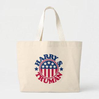 US President Harry S Truman Large Tote Bag