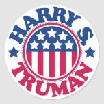 US President Harry S Truman Round Sticker