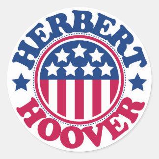 US President Herbert Hoover Classic Round Sticker