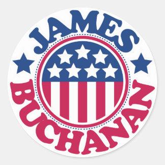 US President James Buchanan Classic Round Sticker