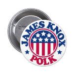 US President James Knox Polk Pinback Buttons