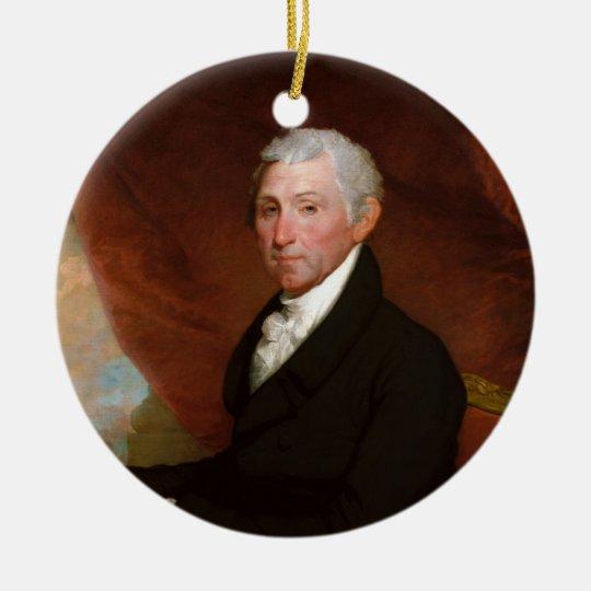 US President James Monroe by Gilbert Stuart Ceramic Ornament